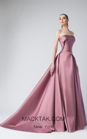 Edward Arsouni FW0252 Mauve Front Dress