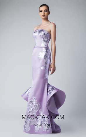 Edward Arsouni FW0256 Mauve Front Dress
