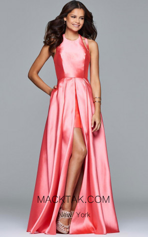 Faviana 7752 Coral Front Dress