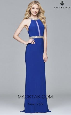 Faviana 7910 Front Evening Dress
