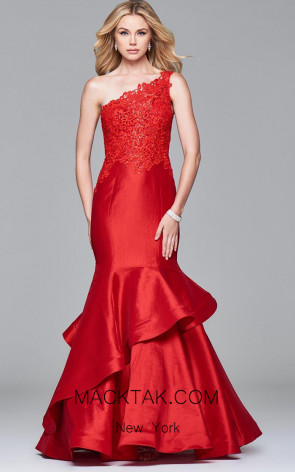 Faviana 7970 Red Front Evening Dress