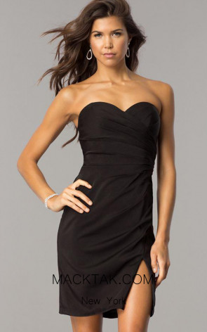 Faviana 8051 Black Front Evening Dress