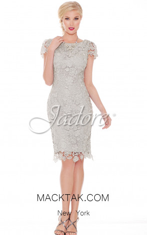 Jadore Canada J6009 Ice Silver Front Evening Dress