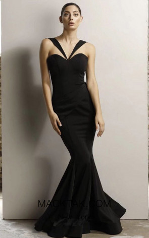 Jadore JX1049 Black Front Dress