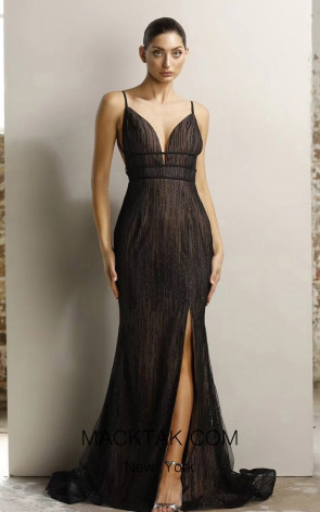 Jadore JX1124 Black Nude Front Dress