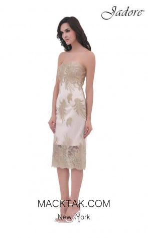 Jadore J11358 Ivory Front Dress