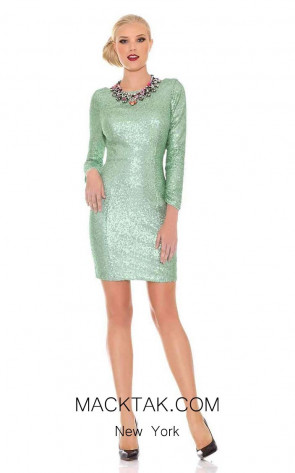 Jadore J6077 Mint Front Dress