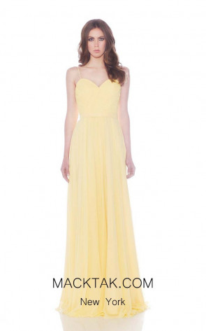 Jadore J7087 Yellow Front Dress