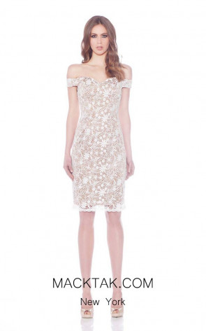Jadore J7097 White Front Dress