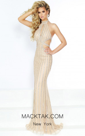 Jasz Couture 6403 Gold Front Dress