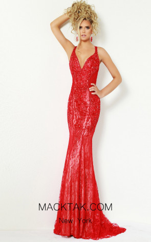 Jasz Couture 6406 Red Front Dress