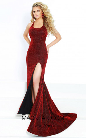 Jasz Couture 6412 Electric Red Front Dress