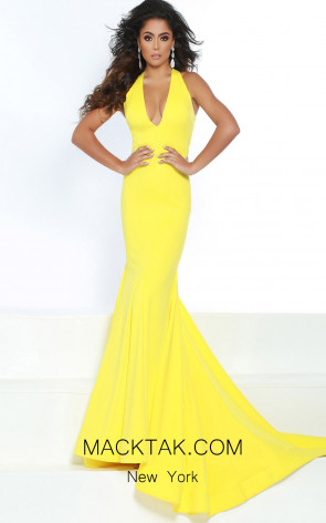 Jasz Couture 6414 Yellow Front Dress