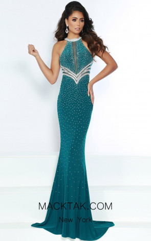 Jasz Couture 6420 Hunter Front Dress