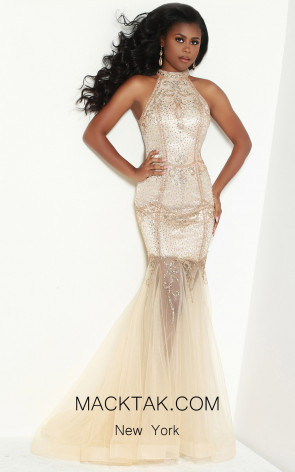 Jasz Couture 6434 Champagne Front Dress