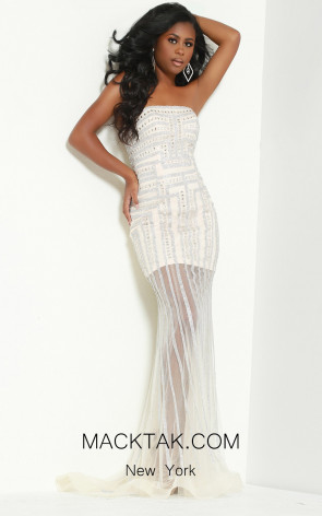 Jasz Couture 6435 Silver Front Dress