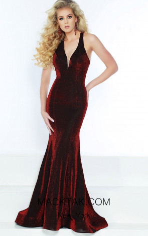 Jasz Couture 6438 Electric Red Front Dress