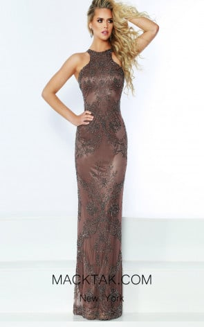 Jasz Couture 6446 Mink Front Dress
