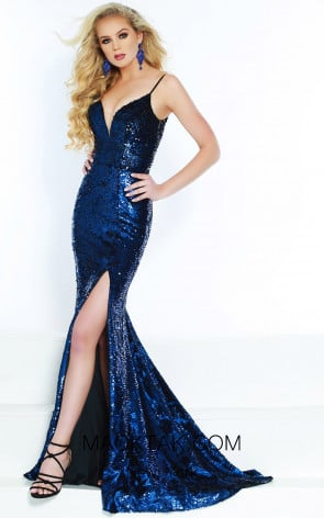 Jasz Couture 6448 Royal Black Front Dress