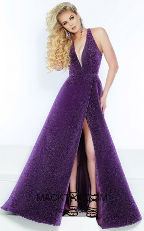 Jasz Couture 6451 Electric Purple Front Dress
