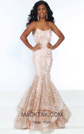 Jasz Couture 6457 Pink Gold Front Dress