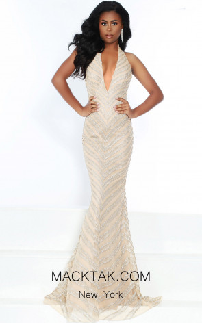 Jasz Couture 6458 Nude Front Dress