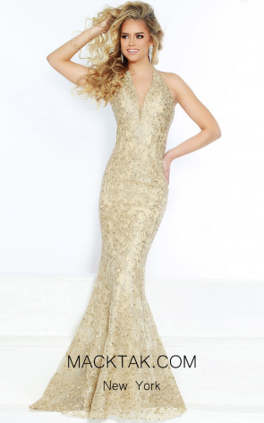Jasz Couture 6464 Gold Front Dress