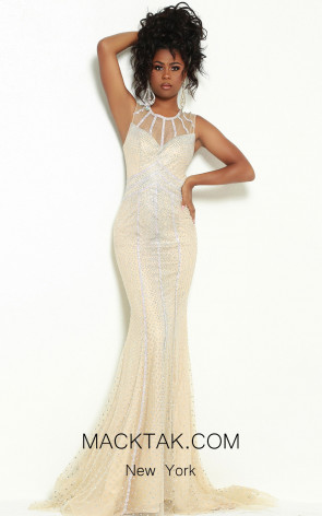 Jasz Couture 6466 Nude Front Dress