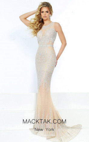 Jasz Couture 6468 Nude Front Dress