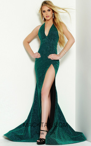 Jasz Couture 6470 Electric Emerald Front Dress