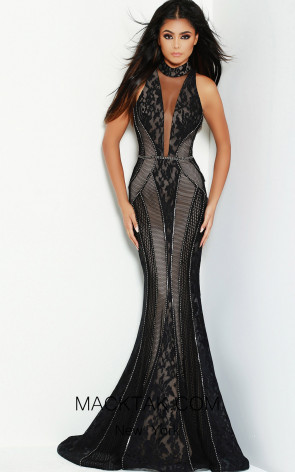 Jasz Couture 6479 Black Front Dress