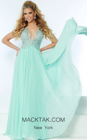 Jasz Couture 6485 Mint Front Dress