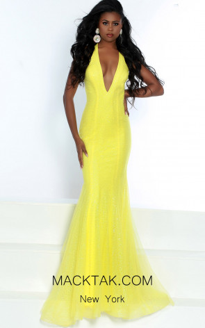 Jasz Couture 6489 Lemon Front Dress