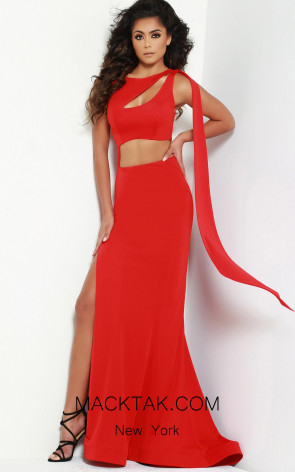 Jasz Couture 6494 Red Front Dress