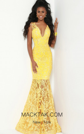 Jasz Couture 6502 Yellow Front Dress