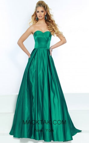 Jasz Couture 6520 Emerald Front Dress