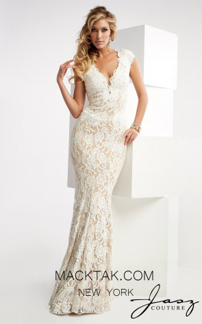 Jasz Couture 6025 Ivory Front Prom Dress
