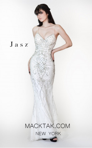 Jasz Couture 6432 White Front Prom Dress
