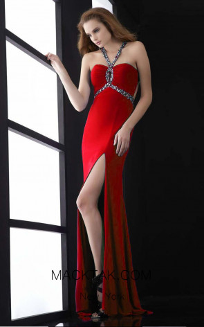 Jasz Couture 5038 Red Front Dress