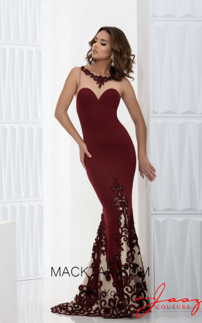 Jasz Couture 5613 Wine Front Dress