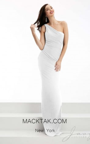 Jasz Couture 5956 White Front Evening Dress