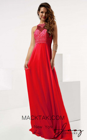 Jasz Couture 6041 Red Front Evening Dress