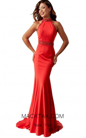 Jasz Couture 6267 Red Front Evening Dress