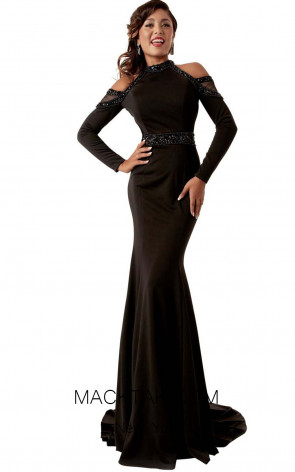 Jasz Couture 6274 Black Front Evening Dress