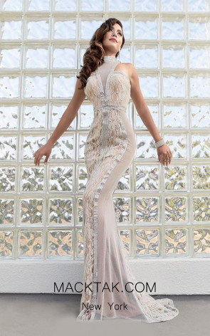 Jasz Couture 6294 Ivory Front Evening Dress