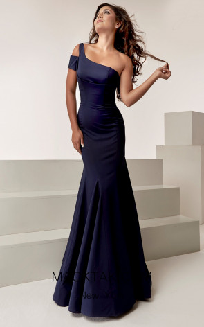 Jasz Couture 6303 Navy Front Evening Dress