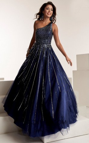 Jasz Couture 6316 Navy Front Evening Dress