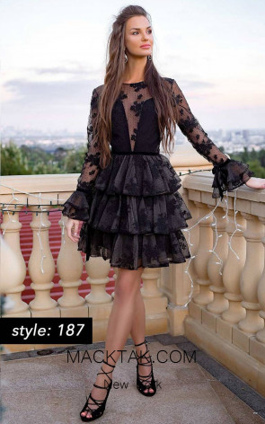 Jessica Angel 187 Black Front Dress