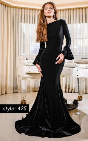 Jessica Angel 425 Black Front Dress