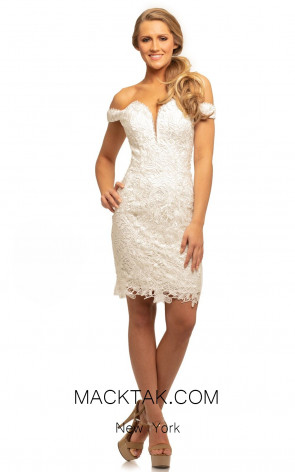 Johnathan Kayne 9247 Ivory Front Dress